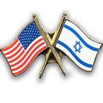Free American-Israel flag pin