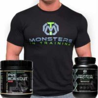 free t-shirt, pre-workout, free protein sample