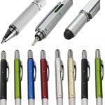 Free 6 in 1 Pen with Ruler, Spirit Level, Stylus and Flat Head Screwdriver