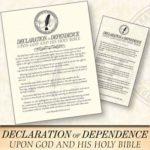 Free Declaration of Dependence Magnet