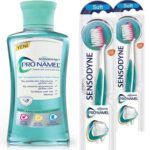 Free Sensodyne Mouthwash and Soft Toothbrush