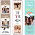 Free Set of Custom Photo Bookmarks