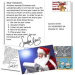 Free BIG Personalized POSTCARD From Santa