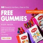 Free Bag of Gummies at Big Lots