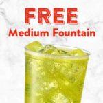 Free Medium Fountain Drink