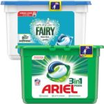 Free Ariel 3 in 1 or Fairy Non-Bio Pods